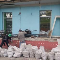 Подготовка фасада здания
