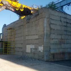 Разбивка бетонного колодца
